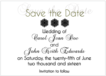 Black Gradient Save the Date