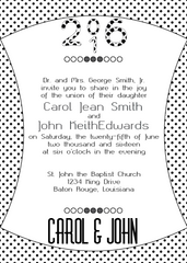 Black Polka Dot Invitation