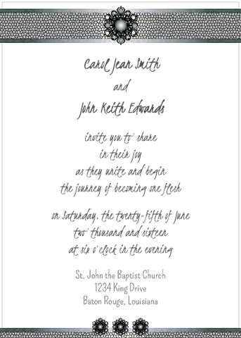 Black Jewels Invitation