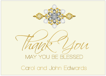 Black Jewels II Thank You Card