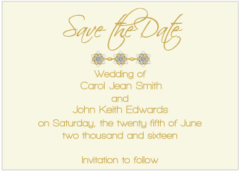Black Jewels II Save the Date Card