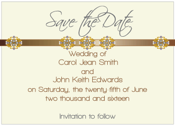 Black Jewels III Save the Date Card