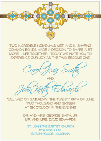 Blue Jewels III Invitation