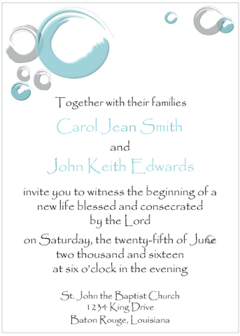 Blue Circles Invitation