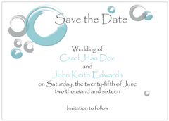 Blue Circles Save the Date Card