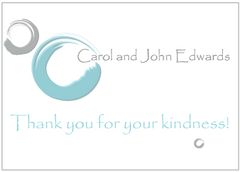 Blue Circles Thank You Card