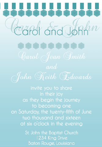 Blue Gradient Invitation