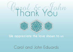 Blue Gradient Thank You Card