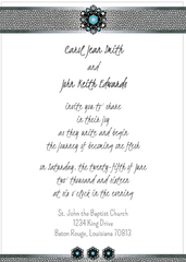 Blue Jewels Save the Date Card