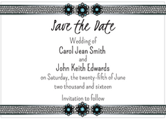 Blue Jewels Invitation