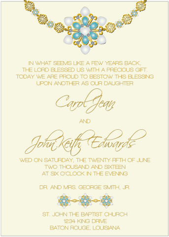 Blue Jewels II Invitation