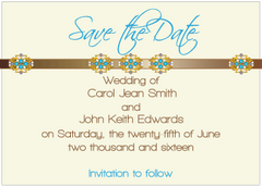 Blue Jewels III Save the Date Card