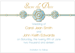 Blue Petal Save the Date Card