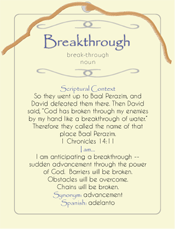 Breakthrough Post Card
