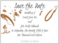 Contemporary Brown Invitation