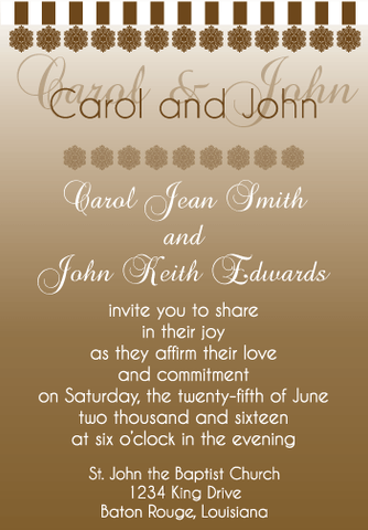 Brown Gradient Invitation