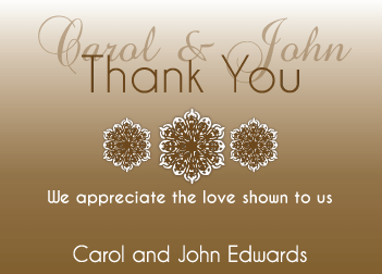 Brown Gradient Thank You Card