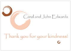 Brown and Peach Circles Thank You Card