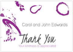 Contemporary Purple Thank You Card