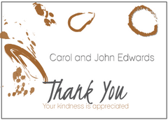 Brown Thank You Card