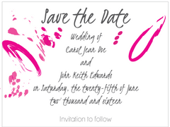 Contemporary Magenta Save the Date Card