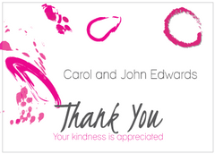 Contemporary Magenta Thank You Card