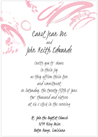 Contemporary PInk Invitation