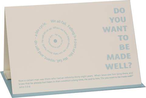 Do You Want to be Made Well Greeting Card (2 Cards)