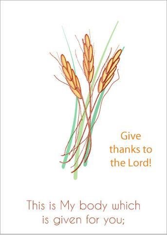 Give Thanks to the Lord Greeting Card (2 Cards)