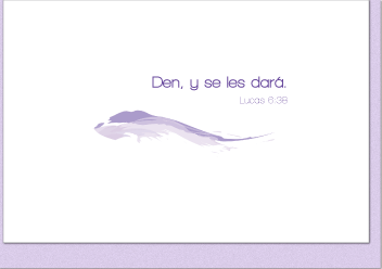 Den, y se les dará (Give and It Will Be Given Note Card - Spanish Version)  (4 Individual Note Cards) - Vendor
