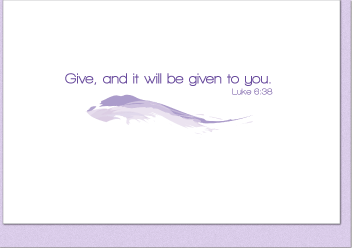 Give and It Will Be Given Service Note Cards (3-Card Pack) - No Scripture Marks Attached
