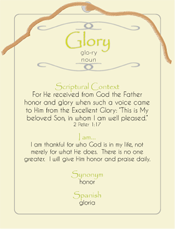 Glory Post Card