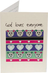 God loves everyone. - Kid Card: Ages 3-5 (3 Cards) - Vendors