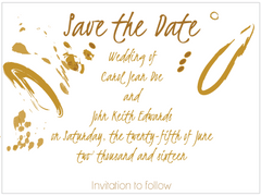 Contemporary Gold Save the Date Card