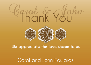 Gold Gradient Thank You Card