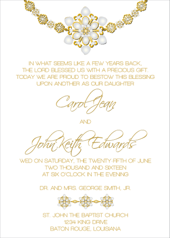 Gold Jewels II Invitation