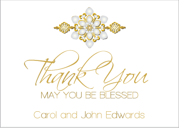 gold jewels ii thank you card he speaks today