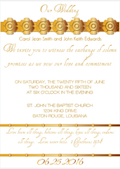Gold Petal Invitation
