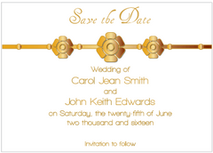 Gold Petal Save the Date Card