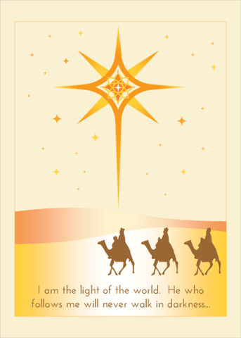 I am the Light Christmas and New Years Greeting Card
