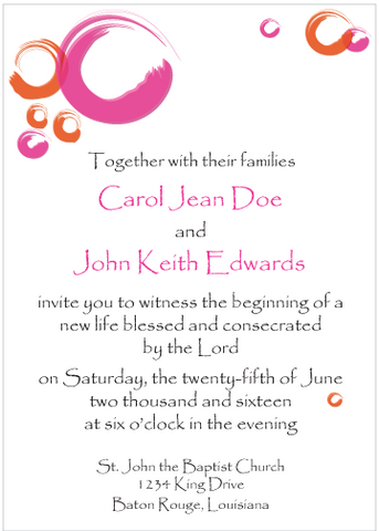 Magenta Circles Invitation