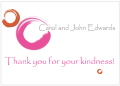 Magenta Circles Thank You Card