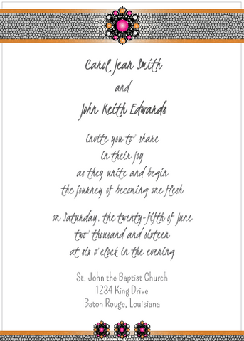 Magenta Jewels Invitation