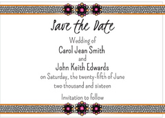 Magenta Jewels Save the Date Card