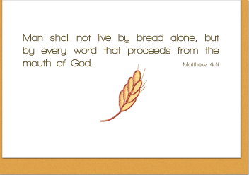 Not By Bread Alone Note Card
