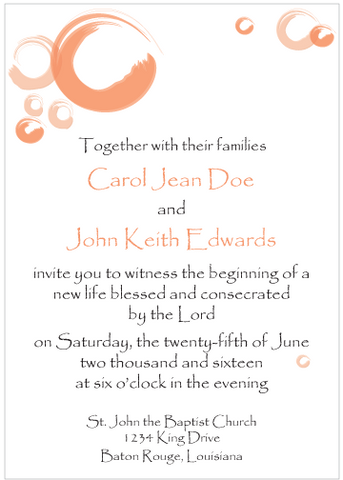Peach Circles Invitation