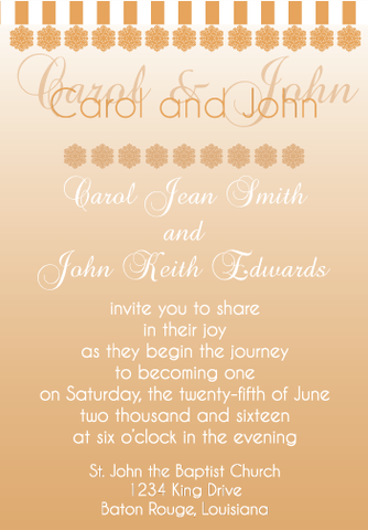 Peach Gradient Invitation