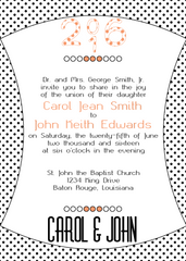 Peach Polka Dot Invitation