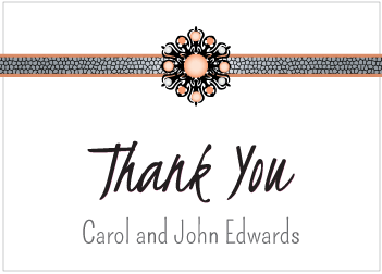 Peach Jewels Thank You Card