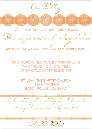 Peach Petal Invitation